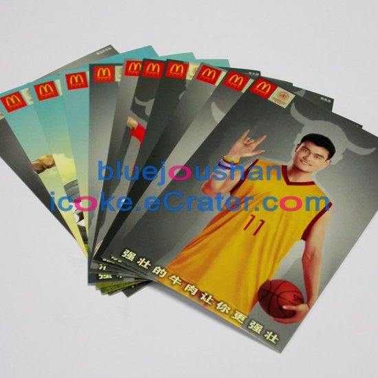 A Set of 2006 Mcdonald's McDonalds Super Star Show 11 Post Cards Postcards ( Including Yaomin)