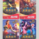 206 Coca-Cola Coke World of Warcraft 4 Pocket Game Trading Cards