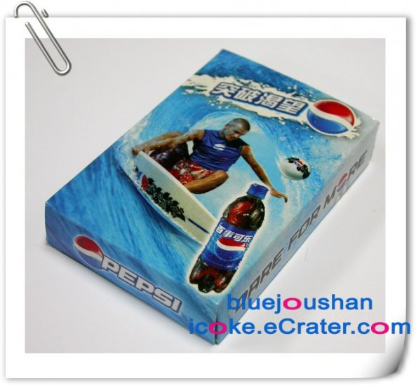 2006 Pepsi-Cola Super Football Star Limited Edition Advertising Playing Poker Cards Set