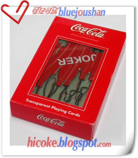 "Coca Cola ""Transparent Coke Bottle"" Playing Poker Cards Deck 1#"