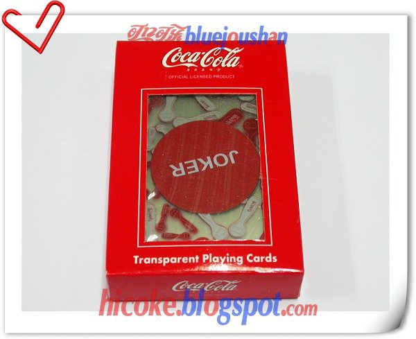 "Coca Cola ""Transparent Coke Cap"" Playing Poker Cards Deck 2#"