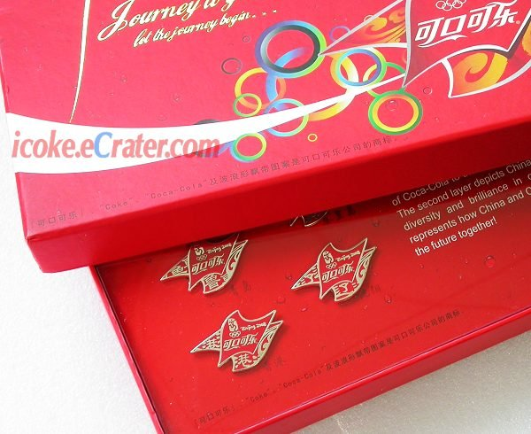 8 Coca-Cola Beijing 2008 Olymic JourneyToGold Coke Pins With Box