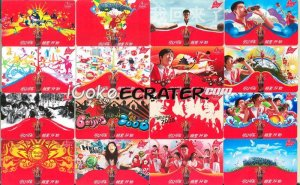 COCA-COLA COKE 2008 BEIJING OLYMPIC 16 AD POCKET TRADING CARDS