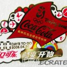 Coca-Cola Beijing 2008 Olympic Count Down 100 Days To Go Pin