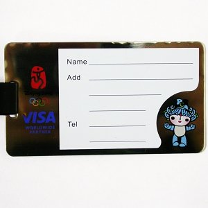 BEIJING 2008 OLYMPIC SPONSOR VISA STEEL LUGGAGE TAG