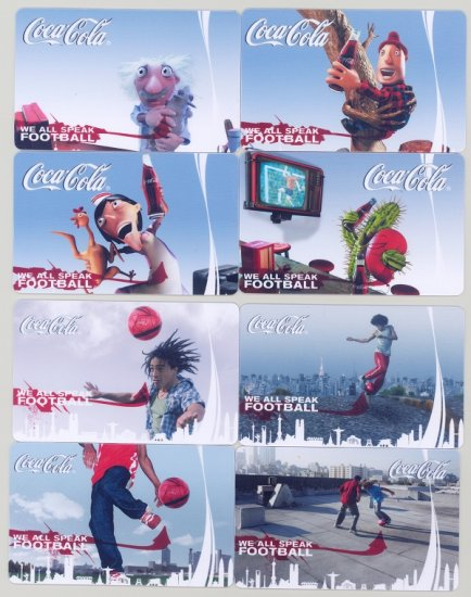 2009 COCA-COLA COKE 8 TRADING POCKET CALENDAR CARDS SET