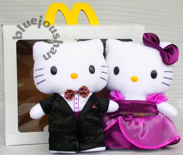 2011 MCDONALDS VALENTINE'S DAY TOY HELLO KITTY & DEAR DANIEL