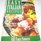 Prego Easy Italian Recipes  Cookbook