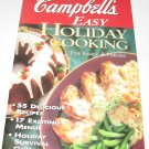 Campbells Easy Holiday Cooking  cookbook