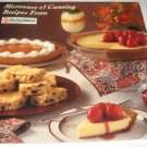 Microwave and canning recipes from NutraSweet cookbook
