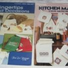 Leisure arts Kitchen Mates and Fingetips for all occasions cross stitch booklet patterns