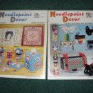Needlepoint Decor Vol 4 and 5 Harold Mangelsen and sons c 1984
