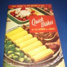 Quick Dishes for the woman in a hurry Recipes Number 101 cookbook