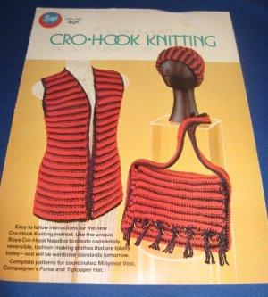 Cro Knit Patterns : Boye Cro Hook Knitting pattern