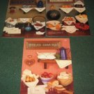 3 Cross stitch bread cover pattern leaflets by Harriette Tew