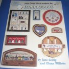Easy Cross Stitch for Wood Shapes patterns by Jane Seelig and Ohma Willette