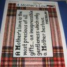 A Mother's Love cross stitch pattern leaflet CL102