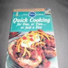 Pillsbury Classic  no.115 Quick Cooking for one two or just a few cookbook recipes