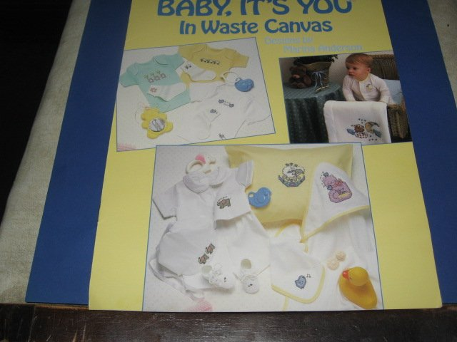 Leisure Arts 544 Baby it's you in waste canvas by Marina Anderson
