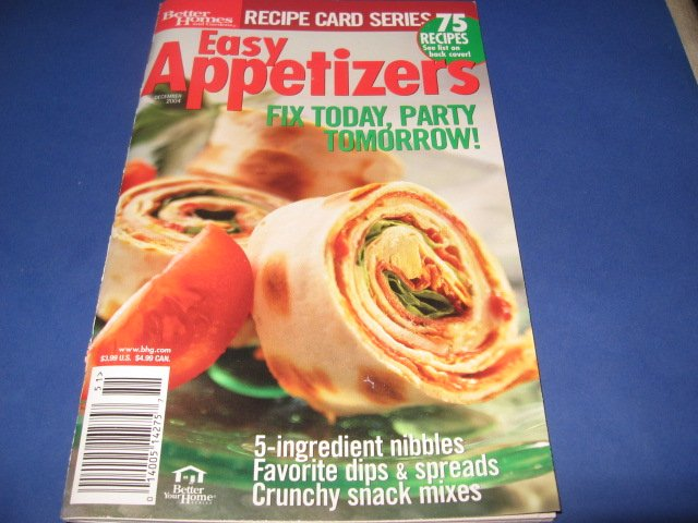 Better Homes and Gardens Easy Appetizers  Cookbook