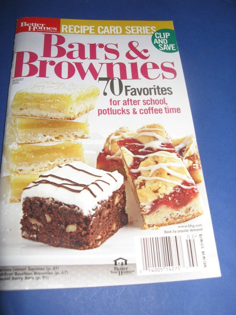 Better Homes and Gardens Bars and Brownies Cookbook