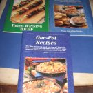Taste of Home 3 recipe booklets Make ahead main dishes prize winning beef and one pot recipes