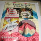 Learn to knit in just one day American School of Needlework 1210 by Jean Leinhauser