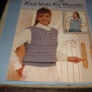 Leisure arts 651 Knit vests for women patterns