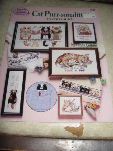 Cat Purr-sonality cross stitch American School of needlework 2588