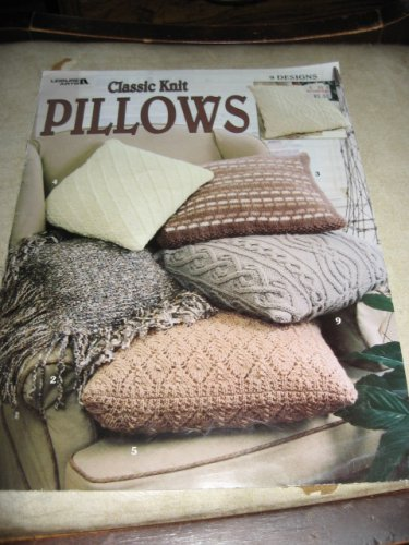 Classic Knit Pillows Leisure arts 3180 knit patterns