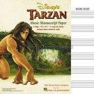 Disney's Tarzan - Music Manuscript Paper (Wide Staff Paper)