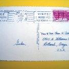 MONTE CARLO Monaco CASINO Vintage POSTCARD w STAMP 1948