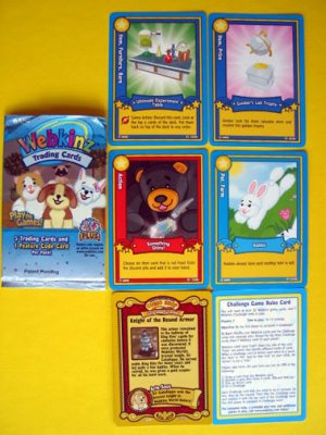 New LOT Webkinz Trading CARDS Feature CODE Rabit Knight