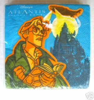 Disney ATLANTIS Cocktail Paper NAPKINS Servietten Collectible Movie Memorabilia