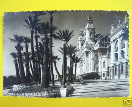 MONTE CARLO Monaco CASINO Vintage POSTCARD w STAMP 1948 Le et les Terasse Photo