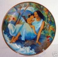 NEW 2004 AVON Mother's Day PLATE Hispanic Raul Colon Dia de las Madres Amor Gold