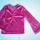Girls LUXURIOUS Sparkle PINK Velour TOP SHIRT 4 5 Boho Bohemian Bell Sleeves FAB