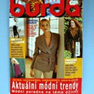 Burda Czech Edition Sewing Magazine September 1998 Uncut Patterns All Sizes