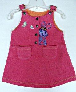 Girls Bug�s Life Princess Atta Jumper Dress 6 Skirt Disney Pixar Bugs Ant Fleece