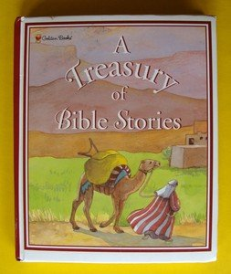 Treasury Of Bible Stories Golden Book Children�s Illustrated New Old Testament
