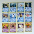 LOT POKEMON Trading CARDS Nintendo Buizel Dragonite Gastly Feebas Meowth Slowbro