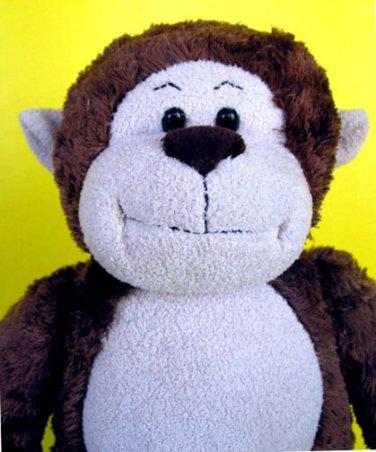 "Build A Bear Monkey Plush 18"" Brown Marvelous Stuffed Animal Workshop Soft Toy"
