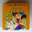 Alice In Wonderland Czech Language Board Book Puzzles Childerns Illustrated OOP