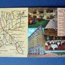 1941 HOTEL Hermitage Nashville TN Vintage POSTCARD Tennessee Historic Restaurant