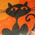 Black Cat Halloween Paper Napkins Sealed Serviette Decoupage Art Style Creepers