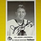 1996-97 Jason LaBarbera Autograph Signed Photo Portland WinterHawks NHL WHL