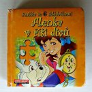 Alice In Wonderland Foreign Language Book HC Boardbook Puzzles Illustrated Czech