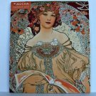 Art Noveau Alphonse Mucha Wall Calendar 2015 Mini Czech Monthly Neoclassical ✔