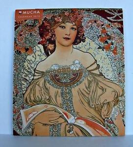Art Noveau Alphonse Mucha Wall Calendar 2015 Mini Czech Monthly Neoclassical �