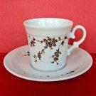 Vintage German China Cup Saucer Eschenbach Coffee Tea Bavaria Flowers Germany